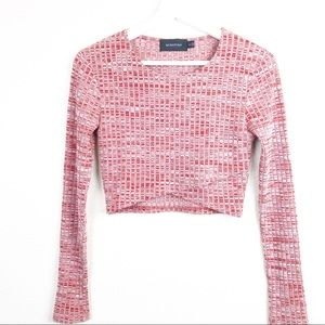 Mink Pink Cropped Pullover Sweater. Size Small